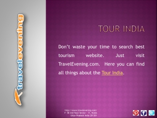 TravelEvening.com Complete Travel Information at One Place