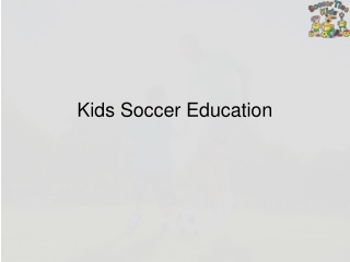 Kids Soccer Education