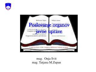 Poslovanje organov javne uprave