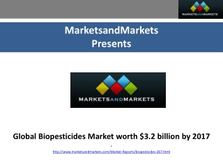 Global Biopesticides Market worth $3.2 billion by 2017