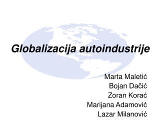 Globalizacija autoindustrije