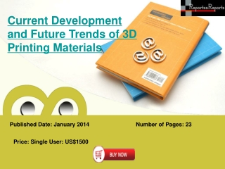 3D Printing Materials Market: Liquid Metals, Graphene, Carbo