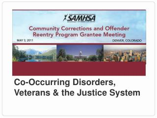 Co-Occurring Disorders, Veterans & the Justice System