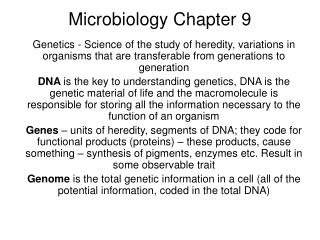 Microbiology Chapter 9