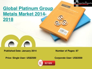 Global Platinum Group Metals Industry to Lead by Deere and