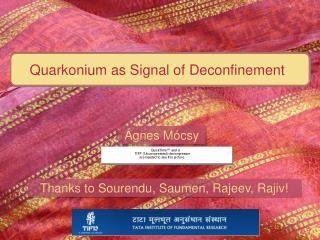 Quarkonium as Signal of Deconfinement
