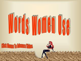 Words Women Use
