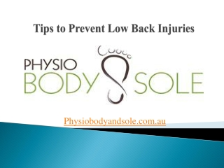 Tips to Prevent Low Back Injuries