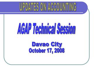 UPDATES ON ACCOUNTING