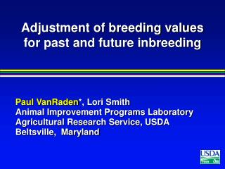 Adjustment of breeding values for past and future inbreeding