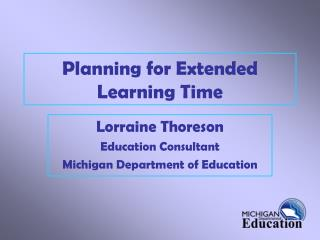 Planning for Extended Learning Time
