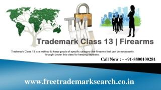 Trademark Class 13 | Firearms