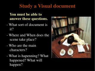 Study a Visual document