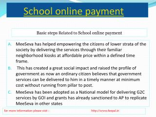 How to submited school online paynment