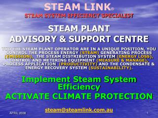 STEAM PLANT  ADVISORY & SUPPORT CENTRE