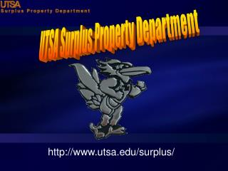 UTSA Surplus Property Department