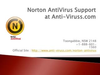 Norton AntiVirus Support at Anti-Viruss.com