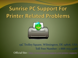Sunrise PC Support For Printer Related Problems
