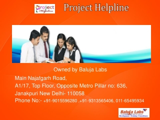 B.tech synopsis and projects