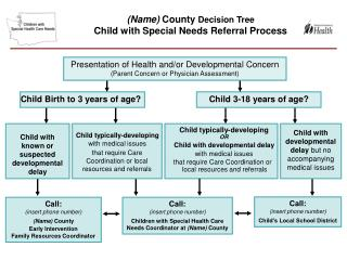 Presentation of Health and/or Developmental Concern (Parent Concern or Physician Assessment)