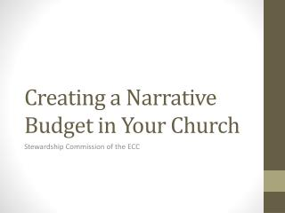 Creating a Narrative Budget in Your Church