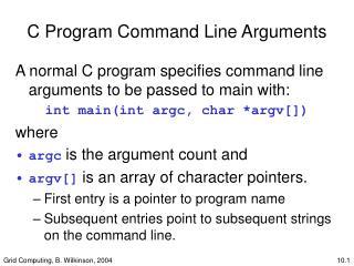 C Program Command Line Arguments
