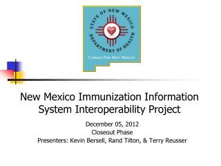 New Mexico Immunization Information System Interoperability Project