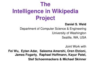 The Intelligence in Wikipedia  Project