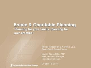 Estate & Charitable Planning