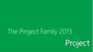 The Project Family 2013