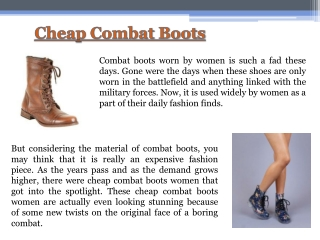 Cheap Combat Boots For Women