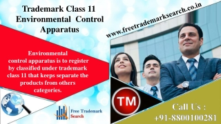 Trademark Class 11 | Environmental Control Apparatus