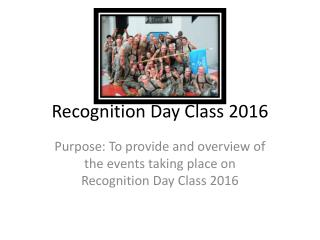 Recognition Day Class 2016