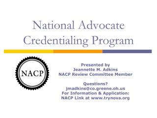 National Advocate Credentialing Program