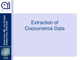 Extraction of  Coocurrence Data