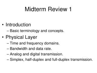 Midterm Review 1