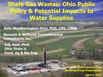 2013 Focusing on Shale Gas Wastes