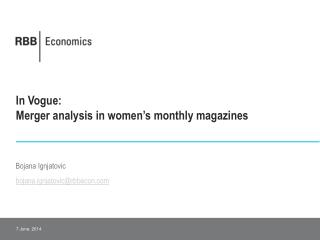 In Vogue:  Merger analysis in women s monthly magazines
