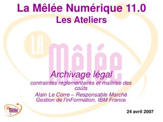 La Mêlée Numérique 11.0 Les Ateliers