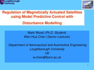 Regulation of Magnetically Actuated Satellites using Model Predictive Control with Disturbance Modelling