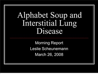 alphabet soup and interstitial lung disease