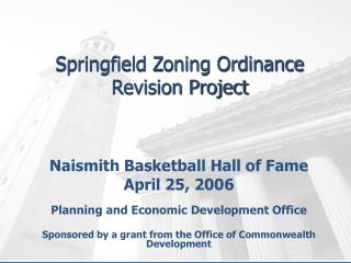 Springfield Zoning Ordinance Revision Project