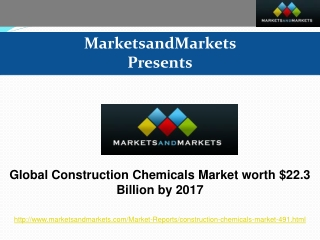 Global Construction Chemicals Market worth $22.3 Billion by