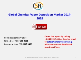 Global Chemical Vapor Deposition Market 2014-2018