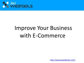 Improve Your Business with E-Commerce