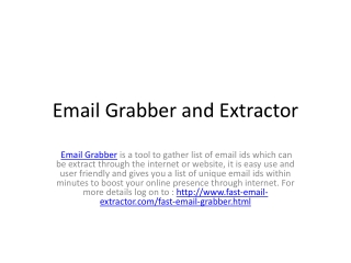 email grabber and extractor
