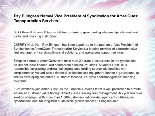 Ray Ellingsen Named Vice President of Syndication
