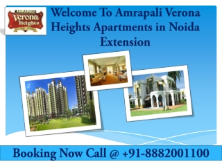 Book Now Amrapali Verona Heights Residential Apartments In N