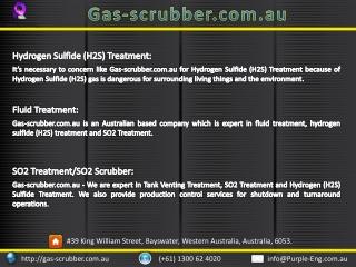 Hydrogen Sulfide (H2S) Treatment