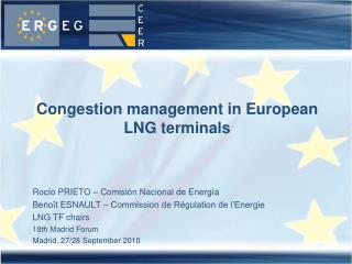 Congestion management in European LNG terminals